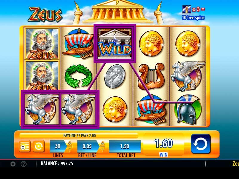 Online Zeus Slot Machine