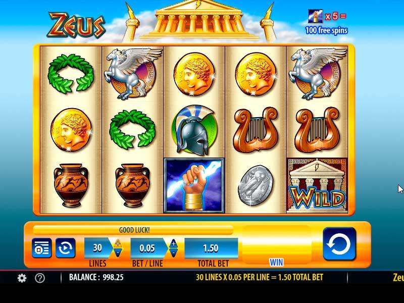Zeus Slot Machine Free Play Online